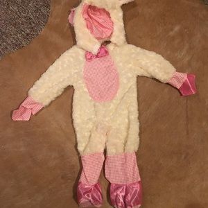 Baby girl lamb Halloween costume size 24 months.